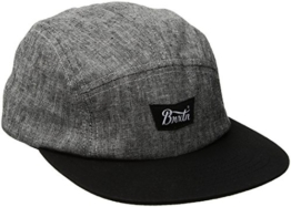 Brixton Unisex Stith 5 Panel Cap, Black, One Size -