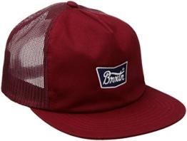 Brixton Unisex Stith Mesh Cap, Burgundy, One Size -
