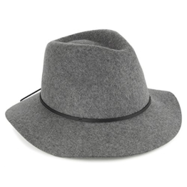 Brixton Wesley Fedora Hut - Grau - L - 60cm -