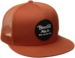 Brixton Wheeler Mesh Trucker Cap, Snapback, burnt orange -
