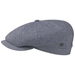 bugatti Bomino Cotton Schirmmütze Schiebermütze Flatcap Baumwollcap Schiebermütze (56 cm - blau) -