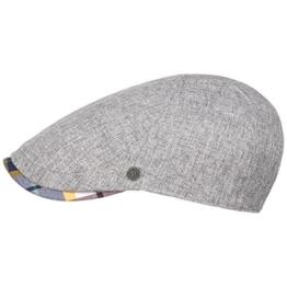 bugatti Checked Visor Flatcap Schirmmütze Schiebermütze Mütze Sommercap Sommermütze Herrencap Schiebermütze Schirmmütze (L/59-60 - hellgrau) -