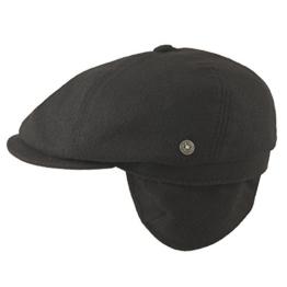 BUGATTI Flatcap Cap Ohren schwarz 61 -