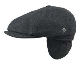 BUGATTI Flatcap Cap Ohren Sportmütze anthrazit 55 -