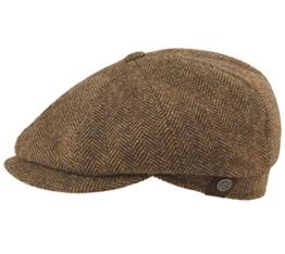 BUGATTI Flatcap Cap Tweed braun 62 -