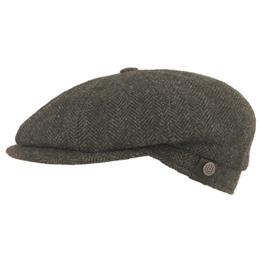 BUGATTI Flatcap Cap Tweed grau 55 -
