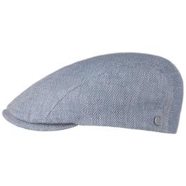 bugatti Galento Leinen Baumwolle Flatcap Cap Mütze Schirmmütze Schiebermütze Leinencap linnen cap pet met klep (58 cm - blau) -