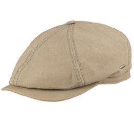 bugatti Leinen Flatcap Stan khaki 57 -