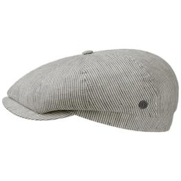 bugatti Leinen Stripes Schirmmütze Schiebermütze Flatcap Baumwollcap Schiebermütze (61 cm - khaki) -