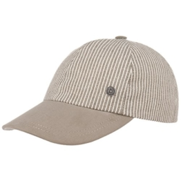 bugatti Summer Stripes Baseballcap Cap Leinencap Baumwollcap Sommercap Sonnencap Kappe Cap Basecap (L/58-59 - beige) -
