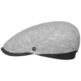 bugatti Twotone Melange Flatcap Schirmmütze Schiebermütze Cap Mütze Leinenmütze Sommermütze Leinencap Schirmmütze (L/59-60 - grau) -