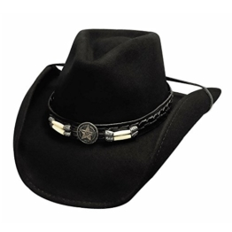 Bullhide Herren Cowboyhut schwarz schwarz Gr. Large, schwarz -