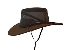 Bushfire Leder Hut Geralton mit Netzeinsatz braun - 013072050000M -