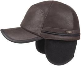 Byers Leder Basecap Stetson (L/58-59 - dunkelbraun) -