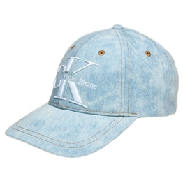 Calvin Klein Jeans Damen Baseball RE-Issue Cap CP Unisex, Blau (Denim Light Blue 443), One Size (Herstellergröße: OS) -
