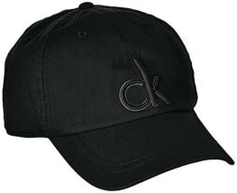 Calvin Klein Jeans Herren Baseball Cap CK, Gr. One size, Schwarz (BLACK 001) -
