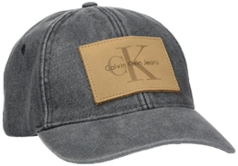 Calvin Klein Jeans Herren Baseball RE-Issue True Icon Cap, Schwarz (Black 001), One Size -