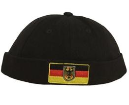 Cap COCO-Caps - ChillOuts schwarz mit Deutschland Flagge - Fussball EM -