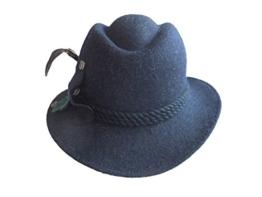 Capo Damen Trachtenhut Stichelhaar mit Federn 994-012514-3007 blau -