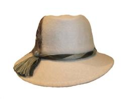 Capo Damen Trachtenhut Wollfilz 14145-4-692-10 wollweiss -