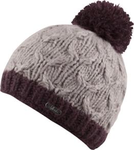 Caro- Bommelmütze handmate - Beanie Strickmütze Mütze Wintermütze Beanie Herren Damen (walnuss) -