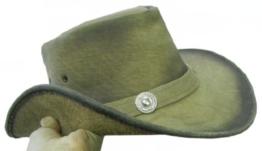 Celebrita Cow Leder Stilvolle Cowboy Lederhut Braun L (60 cm) -
