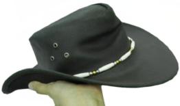 Celebrita Vollrindleder Macho Cowboy Lederhut Braun L (60 cm) -