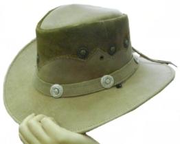 Celebrita Vollrindleder Realman Cowboy Lederhut Hellbraun L (60 cm) -