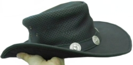 Celebrita Vollrindleder Stern Cowboy Lederhut Schwarz M (59 cm) -