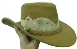 Celebrita Vollrindleder Tagnet Cowboy Lederhut Braun M (59 cm) -