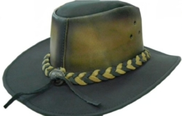 Celebrita Vollrindleder Vermächtnis Cowboy Lederhut Braun XXXL (63 cm) -