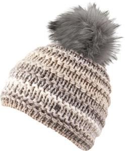 Chillouts Damen Mütze Rachel Hat Pudelmütze Strickmütze cream -