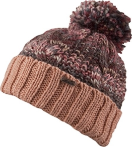 Chillouts Damen Mütze Xenia Hat Strickmütze Pudelmütze rose melange -