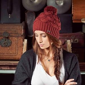 Chillouts Ingrid Bommelmütze Strickmütze Beanie Wintermütze Pudelmütze Mütze Strickmütze Wintermütze (One Size - rost) -