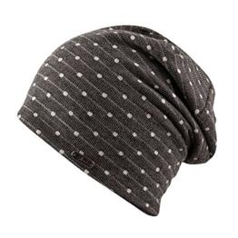Chillouts Manchester Oversize Beanie Long Slouch Baumwollmütze Sommermütze Indoormütze Damenmütze Long Beanie (One Size - grau) -