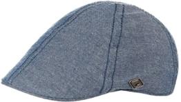 Chillouts Oxford Gatsby Schirmmütze Schnabelmütze Flatcap (One Size - denim) -