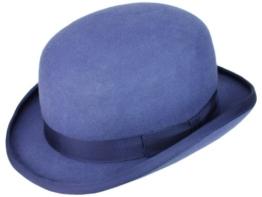 Christys' Fashion Bowler Wollfilz Melone Bowler Filzhut - blue S/54-55 -