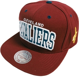 CLEVELAND CAVALIERS - MITCHELL & NESS SNAPBACK - VI15Z - REFLECTIVE ARCH - MAROON / BLUE -