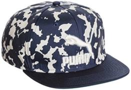 Colour Block Graphic Snapback Cap Flatbrim Flat Brim Basecap Baseballcap Kappe Baumwollcap Puma Cap Basecap (One Size - blau) -