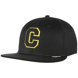 Converse C Snapback Cap Flatbrim Flat Brim Basecap Baseballcap Kappe Cap Basecap (One Size - schwarz) -