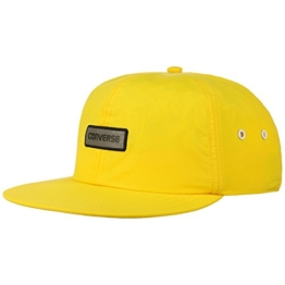 Converse Crushable Snapback Cap Flat Brim Flatbrim Basecap Baseballcap Kappe pet base cap (One Size - gelb) -