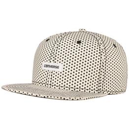 Converse Dots Snapback Cap Flatbrim Flat Brim Basecap Baseballcap Kappe Cap Basecap (One Size - grau) -