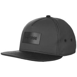 Converse Rubber Snapback Cap Flatbrim Flat Brim Basecap Baseballcap Kappe Cap Basecap (One Size - schwarz) -