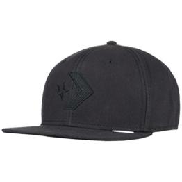Converse Star Chevron Snapback Cap Basecap Baseballcap Kappe Flatbrim Flat Brim Cap Basecap (One Size - schwarz) -