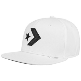 Converse Star Chevron Snapback Cap Basecap Baseballcap Kappe Flatbrim Flat Brim Cap Basecap (One Size - weiß) -