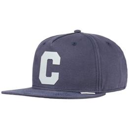 Converse Translucent C Snapback Cap Flat Brim Flatbrim Basecap Baseballcap Kappe Cap Basecap (One Size - blau) -