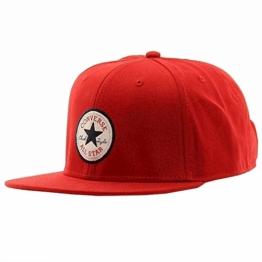 Core Twill Snapback Cap Converse casquette hip hop casquette (taille unique - rouge) -