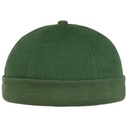 Cotton Dockercap Baumwollmütze Mütze Dockermütze Sommermütze Hafenmütze Sommermütze (One Size - dunkelgrün) -