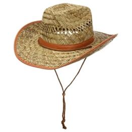 Cowboy Westernstrohhut Karneval Strohhut (61 cm - natur) -