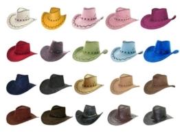 Cowboyhut braun Westernhut Texas Australien Hut für Erwachsene, Farbe:braun 05 -